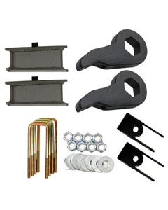 """Lift Kit Chevy 99-06 1500 4X4 Forged Torsion Keys 3"""" Fab Steel Blocks Shock Ext"""
