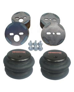 Air Ride Suspension Front 2600 Air Bags & Mounting Cups For 1988-98 Chevy Truck