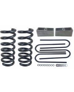 "3/2 Drop Kit S10 2WD 4 Cylinder 3"" Front Springs 2"" Rear Aluminum Blocks Ubolts"