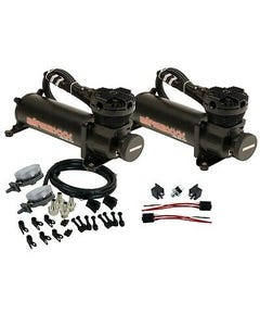 Black Air Compressors with Air Intake Filter Relocate AirMaxxx 480 180 psi Kit
