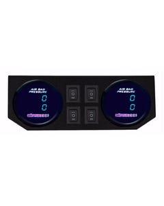 2 Dual Digital Display 200psi Air Gauges & Panel Four Switch Air Ride Suspension
