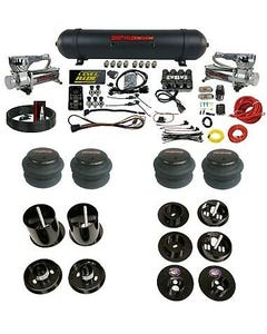 3 Preset Pressure Complete Bolt Air Ride Suspension Kit 65-70 Cadillac 580 Chrom