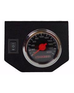 Air Ride Suspension Single Needle Air Gauge Panel 200psi 1 Rocker Switch Control