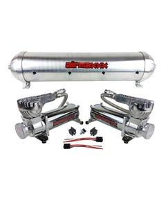 airmaxxx 580 Chrome Air Compressors & Raw 5 Gallon Seamless Aluminum Tank