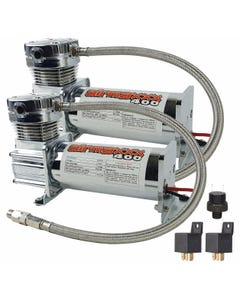 airmaxxx 400 Chrome Air Ride Suspension Compressors (Dual Pack) 90/120 Pressure Switch