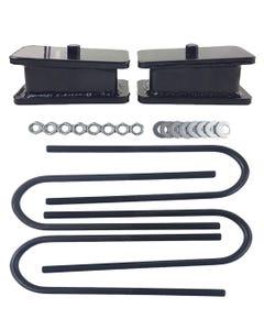 "Rear Axle Drop Kit 2"" Fab Steel Lowering Blocks Ubolts 1998-Older Import Trucks"
