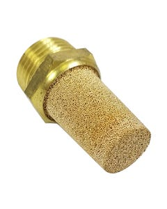 Air Valve Brass Silencer / Filter 3/8 male NPT