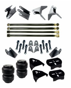 Rear Axle Triangulated 4 Link w/ Air Lift D2500 Bags & Mounting Brackets