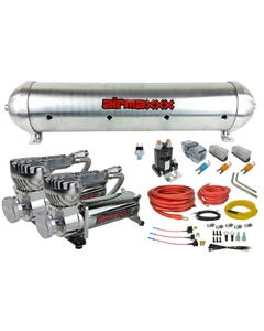 5 gallon spun raw aluminum air tank 580 chrome air compressors & wiring kit