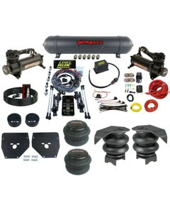 Complete 3 Preset Height Level Ride Air Suspension Kit GM C10 73-87 480 Black