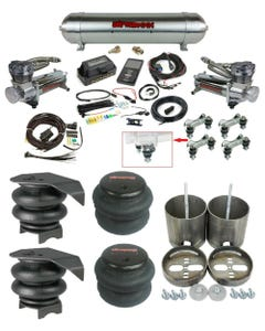 1999-06 Chevy and GMC Trucks Complete Air Ride Suspension Kit 480 compressors 27685 Air Lift 3P