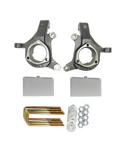 "1999 - 2006 Chevy / GMC Silverado / Sierra 3"" Lifted Spindles and 2"" Aluminum Lift Blocks Lift Kit 1"