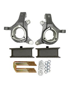 """1999 - 2006 Chevy / GMC Silverado / Sierra 3"""" Lifted Spindles and 2"""" Fabricated Lift Blocks Lift Kit 2"""