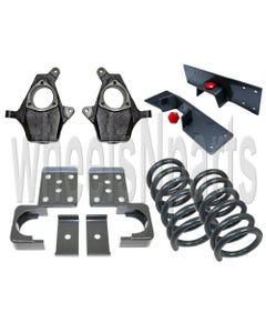 "4""/6"" Drop Kit For 99-06 Chevy Silverado 1500 V8 2wd Spindles Springs Flip Notch"