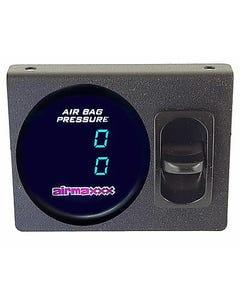 Air Gauge Dual Digital 200 psi Display Panel 1 Paddle Switch Air Ride Suspension