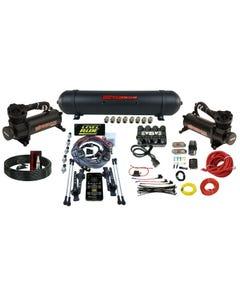 Levelride Height + Pressure Airmaxxx Black 480 Spun Aluminum Air Management Kit