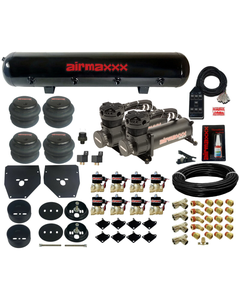 Air Ride Suspension Kit For 1963-72 Chevy C10 3/8 Valves 7 Switch Bags Tank 480B