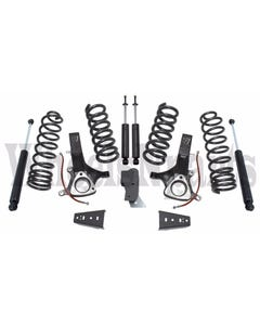 """Lift Kit Dodge Ram 1500 2009-2018 2WD 7"""" Maxtrac Spindles Coils Spacers Shocks"""