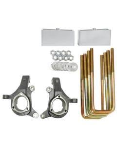 "Silverado Lift Kit 3""/3"" 2007 - 2014 2WD Suspension Spindles Aluminum Blocks"