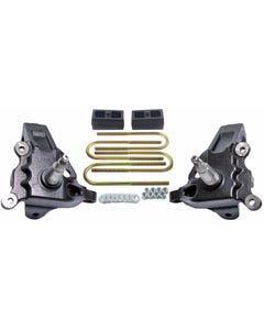 "3.5"" Front Lift Spindles Ford F150 2"" Rear Cast Block Suspension Kit 1997-03 2WD"