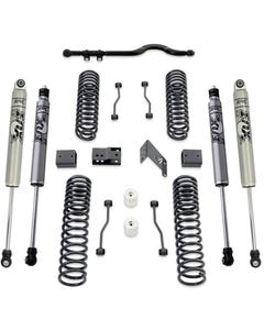 "2007-2018 Jeep Wrangler JK 2wd/4wd 4.5"" Coil Lift Kit W/ Front Track Bar And FOX Shocks - MaxTrac K889745F"