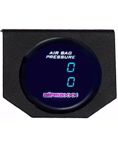 Air Gauge 200 psi Dual Digital Display Panel No Switches Air Ride Suspension