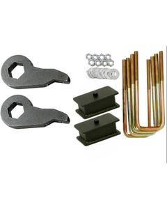 "Chevy Lift Kit Black Torsion Keys 4"" Fab Steel Blocks 1988 - 98 6 Lug Trucks SUV"