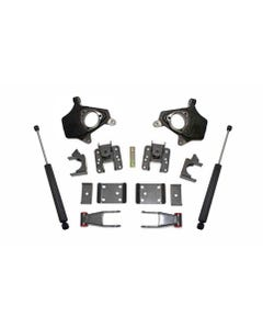 """2007-2016 GM 1500 2wd/4wd 2/4"""" Lowering Kit (Non-Magneride Models)- MaxTrac KS331324"""