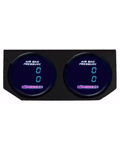 2, 200 psi Dual Digital Display Air Gauges & Panel No Switch Air Ride Suspension