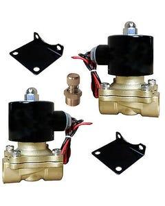 "air bag suspension valves 2 brass 1/2""npt w/mounts & adjustable slow down system"