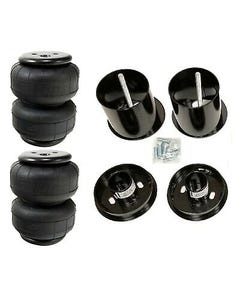 65-70 Cadillac Front Air Ride Suspension Kit AirLift D2500 Airbags Mounting Cups