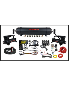Levelride Pressure Only Airmaxxx 580 Compressors Spun Aluminum Tank Air Management Kit With Water Traps