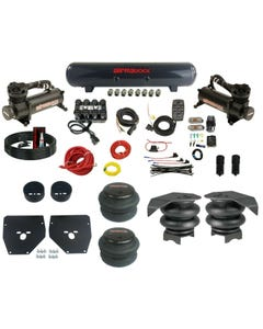 Complete Air Ride Suspension Kit 73-87 GM C10 Evolve Manifold Bags 480 Black