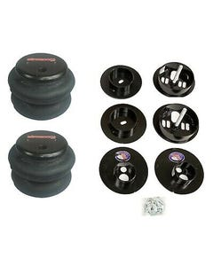 65-70 Cadillac Rear Air Ride Suspension Kit Airmaxxx 2600 Airbags Mounting Cups