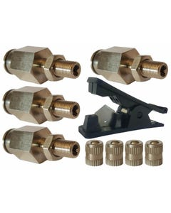 "4 - 3/8"" Schrader Inflation Fill Valves & Fast Hose Cut Tool Air Ride Suspension"