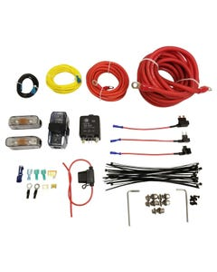 Airmaxxx Dual Compressor Wire kit Air Ride Suspension Install Kit Fits Viair