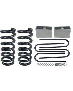 """3/3 Drop Kit S10 2wd V6 3"""" Front Springs 3"""" Rear Aluminum Blocks Ubolt"""