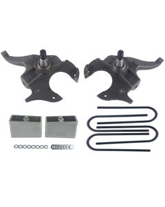"S10 Drop Spindles & Aluminum Blocks 2"" Front 3"" Rear Suspension Lowering Kit 2WD"