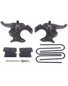 "S10 Drop Spindles & Fabricated Steel Blocks 2"" Front 3"" Rear Suspension Lowering Kit 2WD"