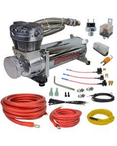 airmaxxx 480 chrome air compressor & wiring kit