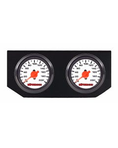 Single Needle White Face Air Ride Suspension Gauges & Display Panel airmaxxx