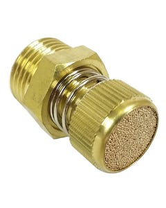 Air Valve Brass Silencer / Speed Controller 1/2 Male NPT