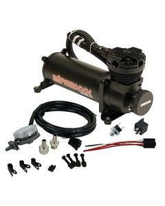 Black AirMaxxx 480 Air Compressor with Air Filter Relocate Kit 150 psi Kit