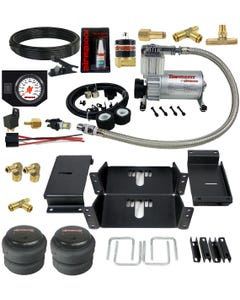 Air Helper Spring Kit W/ White Gauge In Cab Control 1994 - 02 Dodge Ram 3500 Truck