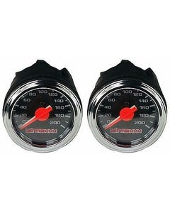 "Two Air Gauges Dual Needle 200psi Air Ride Suspension System 2"" Black Face LED"