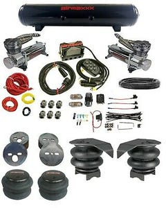"Chevy 88-98 1500 3/8"" airmaxxx Complete Air Ride Kit 480 Chrome Compressor 5 Gal"