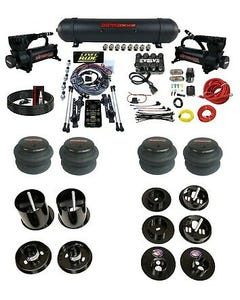 3 Preset Heights Complete Bolton Air Ride Suspension Kit Cadillac 65-70 Manifold