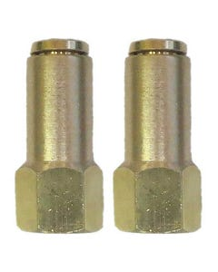 "Air Suspension System 2 Brass Fittings 3/8""NPT Female to 1/4"" Air Hose Push In"